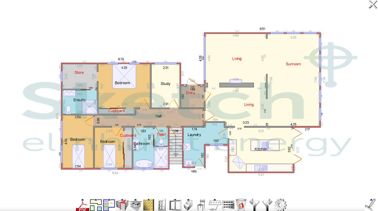 floor plan software  assessor floor planning software - an example floor plan created by elmhurst's floor planning software